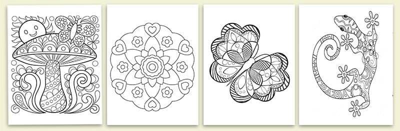 примеры антистрессовых раскрасок для детей