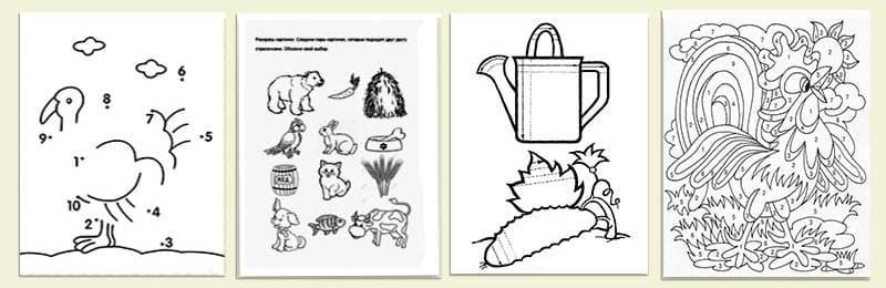 виды обучающих раскрасок для детей