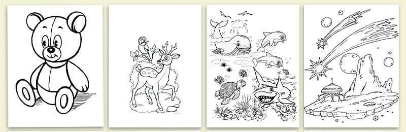 Виды развивающих раскрасок для детей