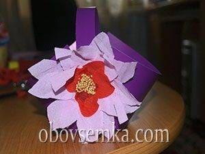Подарочная корзинка из картона и бумаги своими руками