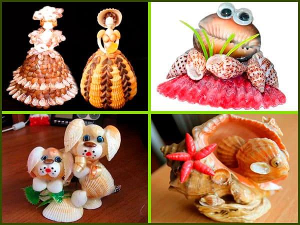 игрушки поделки из ракушек