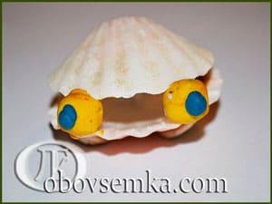 поделка моллюск из ракушек