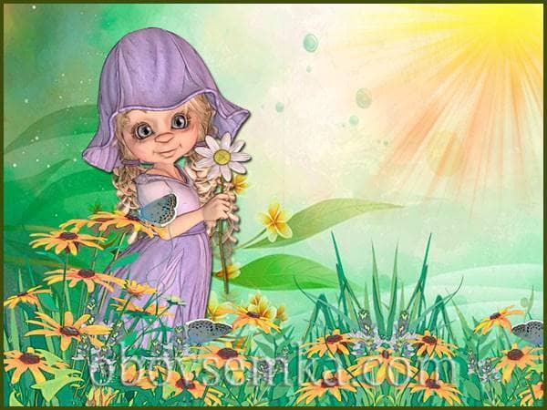 Квіткова феєрія. Вірш про маленьку Фею.