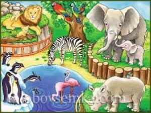 Кроссворд «Веселый зоопарк»