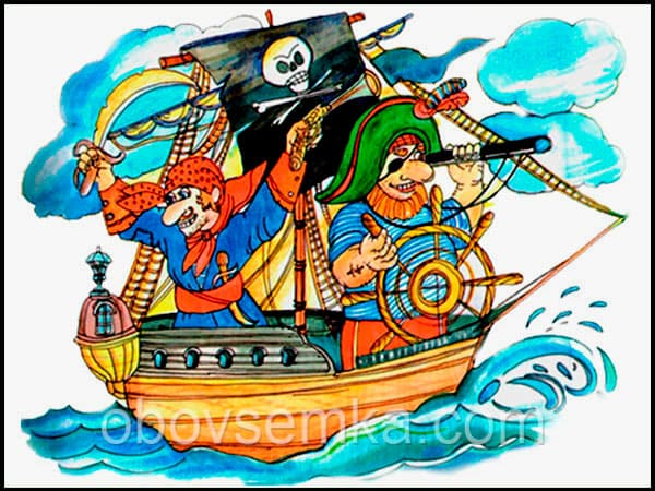 пираты на корабле