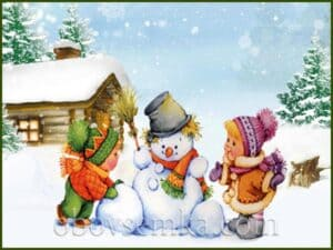 Загадки про зиму для детей в стихах