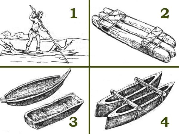 перші конструкції човна